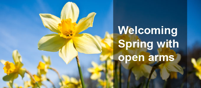 Welcoming Spring with open arms