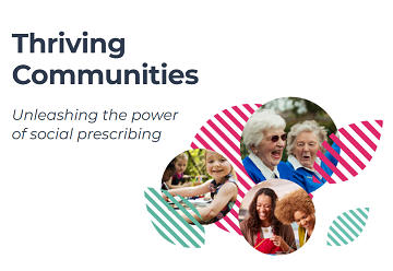 Thriving Communities: unleashing the power of social prescribing logo