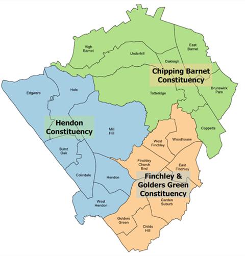 Barnet Ward Map