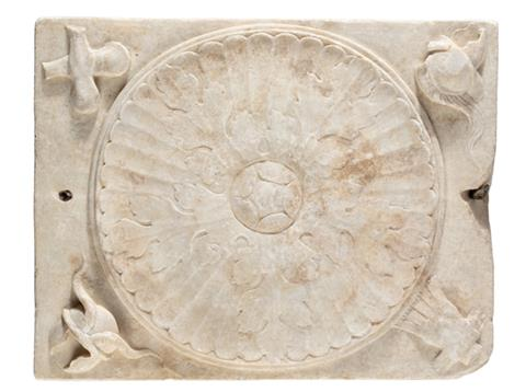 Roman marble funerary dedication after conservation