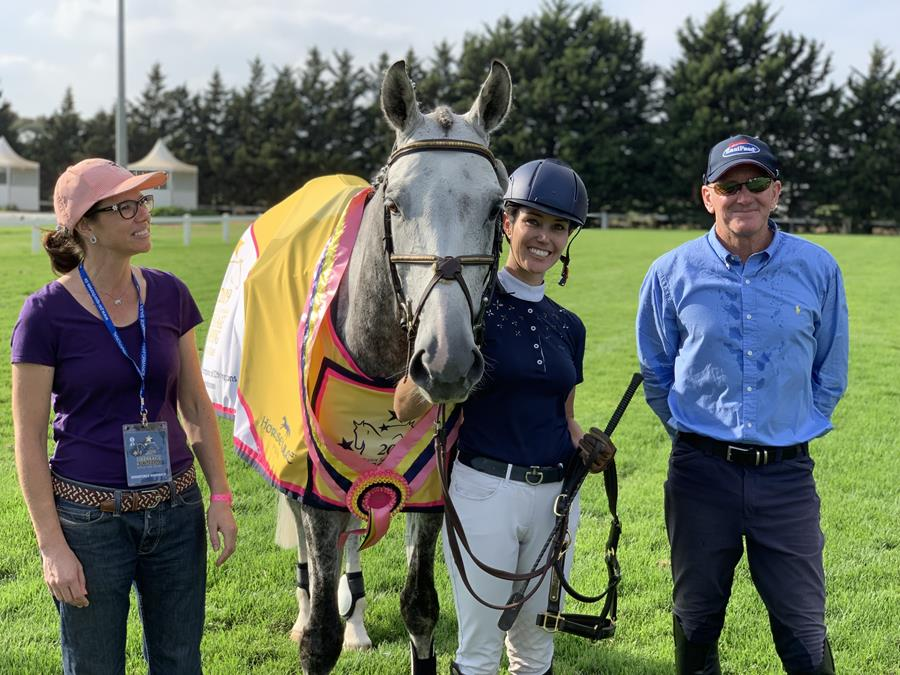 2019 Horseforce Young Eventing Horse Champions, Erin Callahan and Danson Lincoln, winner of the Horseforce 6 & 7 Year Old Young Event Horse class 📷 Ute Raabe