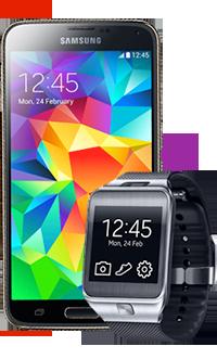 Samsung Galaxy S5 + Ceas Gear 2  la un super preț
