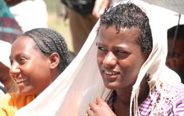 A girl in the Berhane Hewan project, Ethiopia