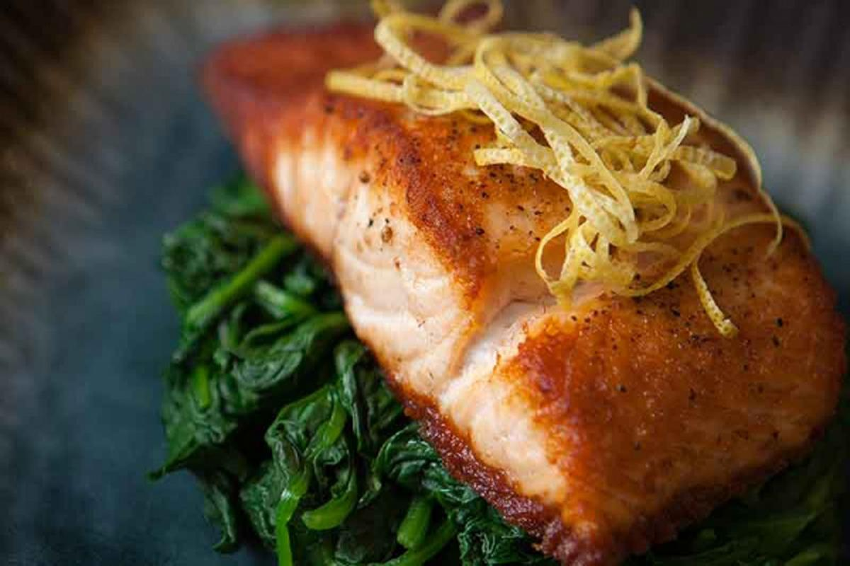 Pan-Roasted salmon filet