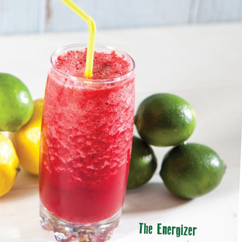Energizer drink, lemons and limes
