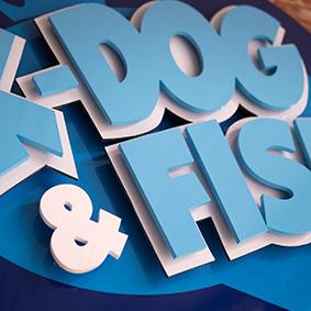 Pixel Flex – K-Dog & Fish