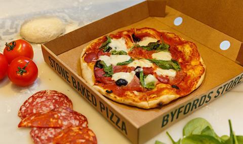 Byfords pizza in a box