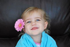 Ashley, a four-year-old with a liver transplant