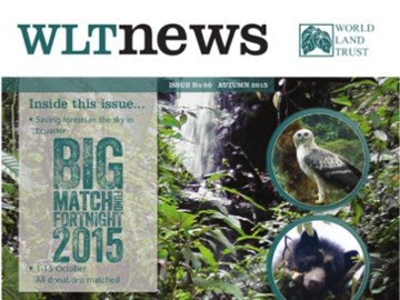 WLT News Autumn 2015 front cover.