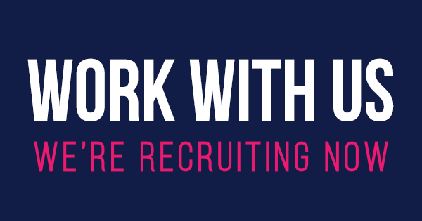 A banner telling people that we are recruiting