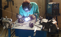 MIG welding at DeSoto County Career and Technology Center