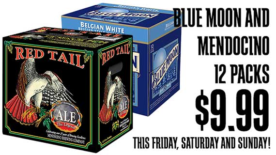 Blue Moon and Mendocino Brewing 12 Packs $9.99