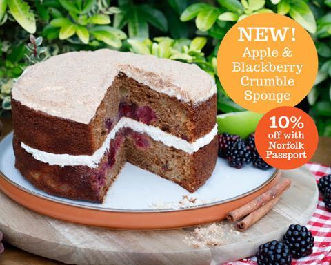 Sponge blackberry cake