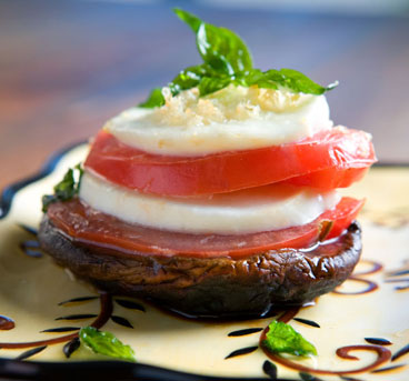 Portobella Heirloom Tomato Napoleon