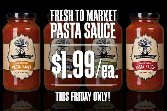 Fresh to Market Past Sauce $1.99/ea.