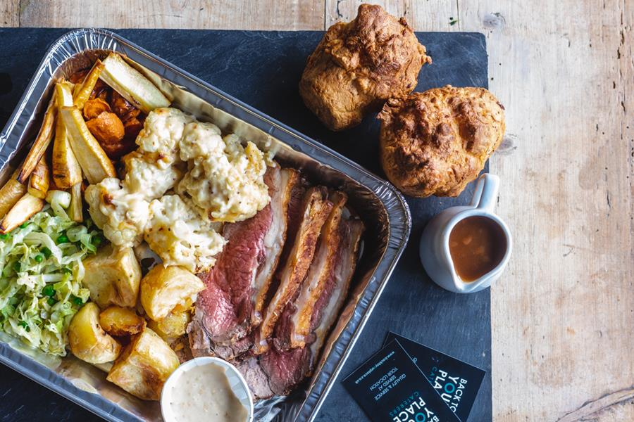 Roast dinner box for collection
