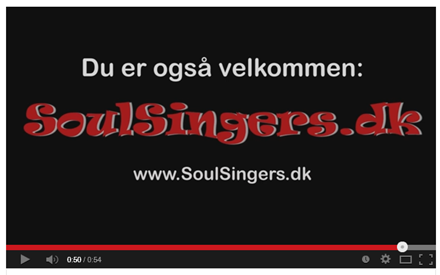 Link til Youtube-video om SoulSingers.dk