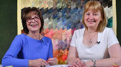 Tudor Rose table runner project with Nancy Adamek