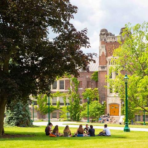 Summer orientation session outdoors