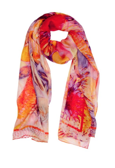 Sunset Glow Silk Scarf
