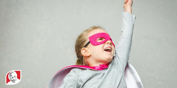 Girl superhero graphic