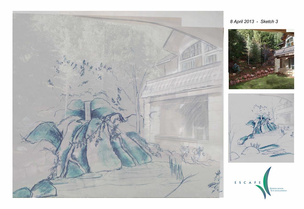 Garden Fountain Conceptual Sketch