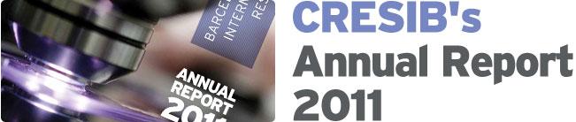 CRESIB's Annual Report 2011