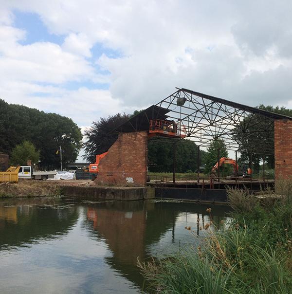 afbraak gebouwen scheepswerf Bocholt