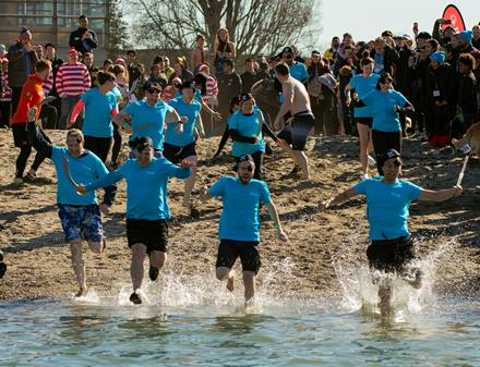 Westminster Savings staff at the 2019 Vancouver Polar Plunge for SOBC