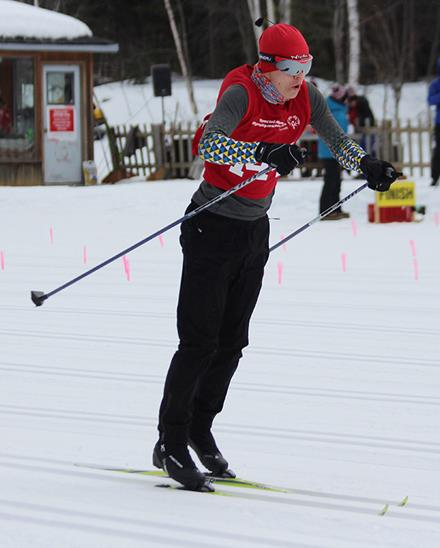 Sebastian Gylander racing for Team BC at the 2020 Special Olympics Canada Winter Games