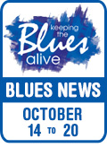 Keeping The Blues Alive brings you Blues News. Week of October 14th to 20th.