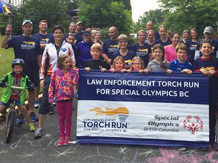 Victoria Law Enforcement Torch Run for Special Olympics BC