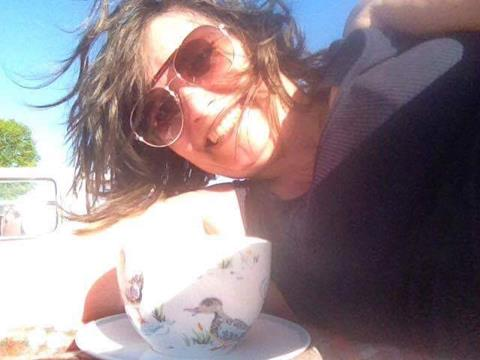 Cath Kidston Ducks large teacup & saucer