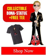 Joe Bonamassa JB Collectible Bona-Statue with Free Tee