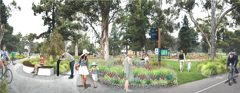 Artist's impression of Denise Norton Park/Pardipardinyilla (Park 2)