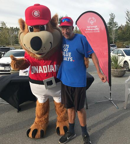 Special Olympics athlete Jay Laitar Vancouver Canadians