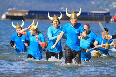 The Westminster Savings team getting bold and cold at the Vancouver Polar Plunge