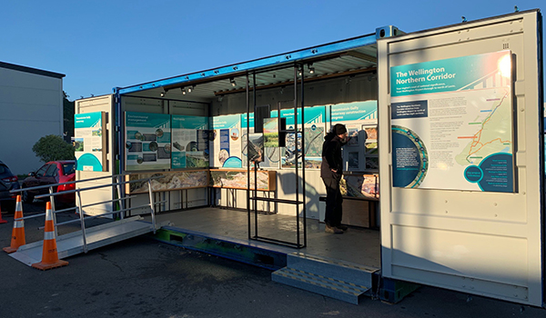 The mobile visitor centre is now open onsite at Coastlands, Paraparaumu.