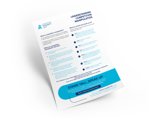 Understanding Competition Manipulation Information Sheet