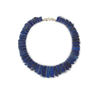 lapis tab necklace