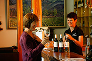 Rose and Leanne tasting at Boyntons Feathertop winery