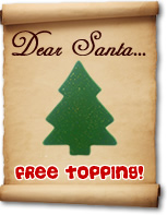 Dear Santa...free Christmas topping at www.sponge.co.uk